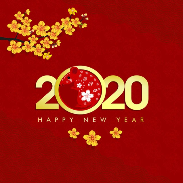 Happy New Year 2020, merry christmas. Happy Chinese New Year 202